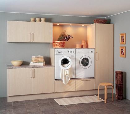 Bryggersskab til vaskemaskine