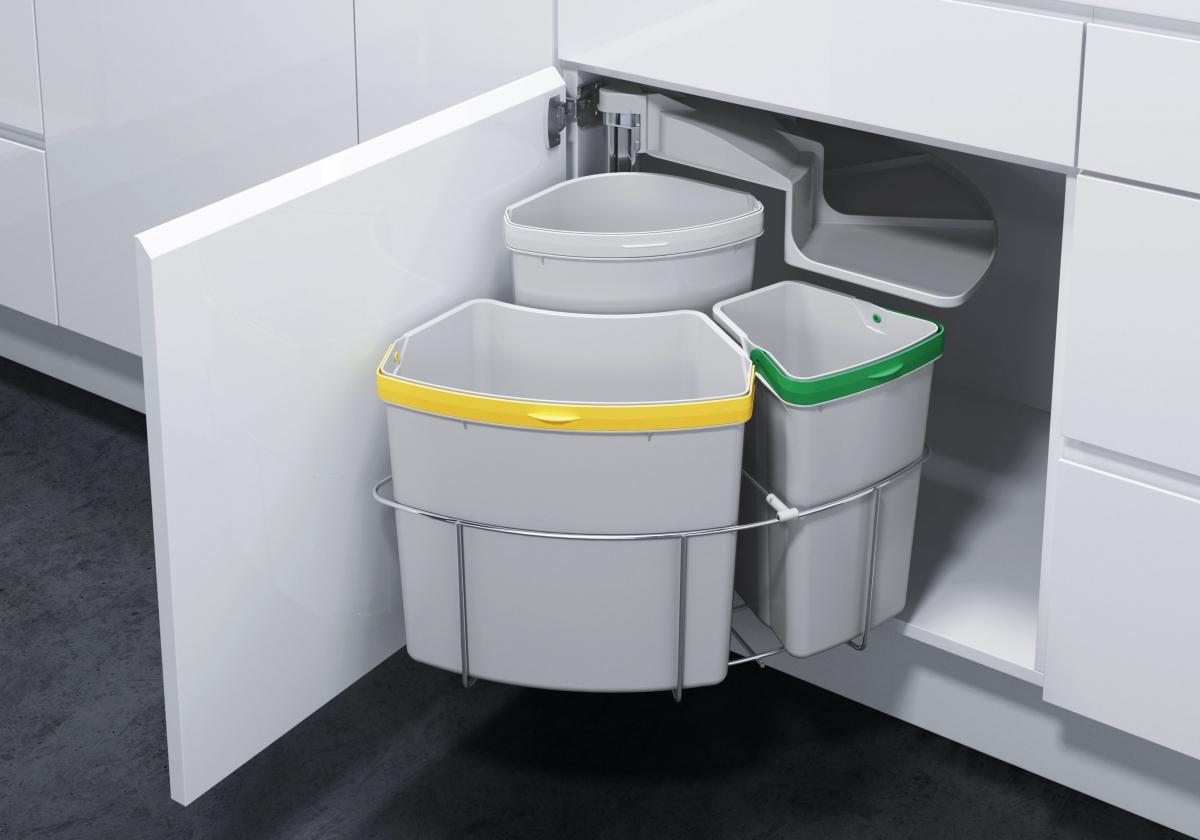 avfallssystem i kjøkkenbenken